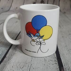 Vintage Balloon Bird Cartoon Coffee Mug